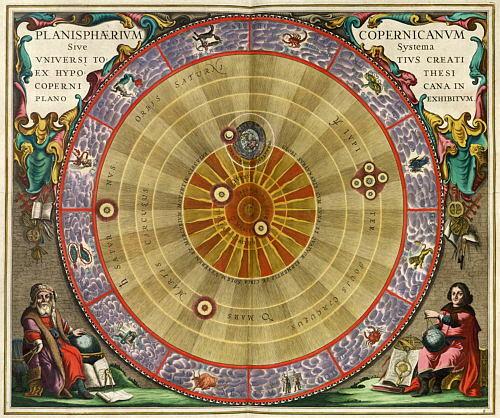 Nicolás Copérnico y su teoría heliocéntrica.
