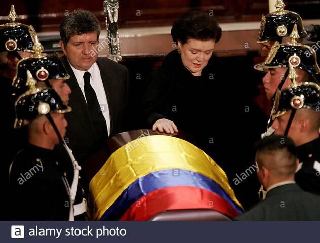 the death of ex-president Julio Cesar Turbay