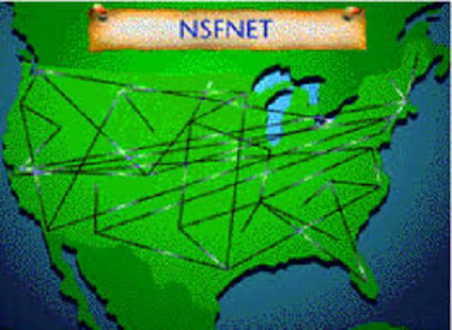 Comienza a operar la red NSFNET
