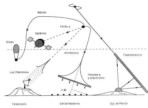 El componente penetrante o 'duro' de los rayos cósmicos.