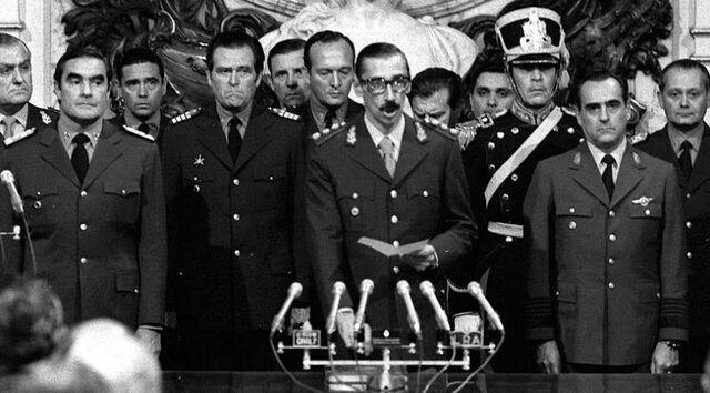 La dictadura militar.