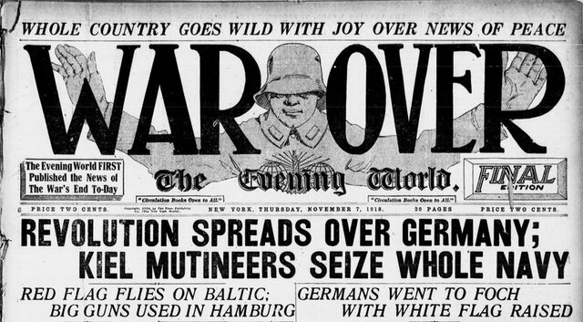 Finaliza la Primera Guerra Mundial