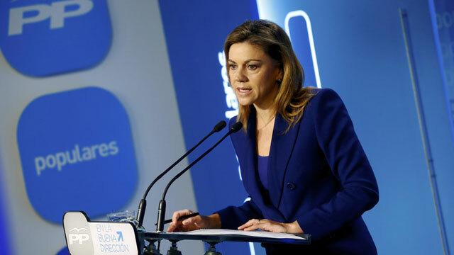 Cospedal sugiere que el objetivo de las protestas de Burgos no era parar las obras