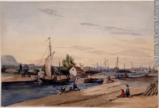 Inauguration du Canal Lachine en 1825