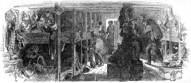 Population d'immigrants en 1829
