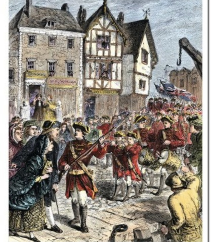 British Troops Arrived 1768