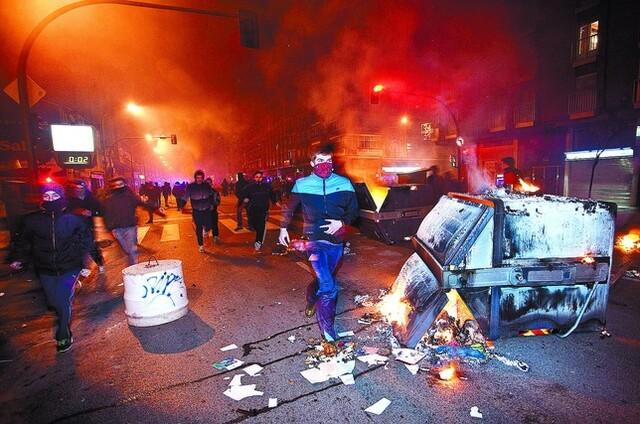 Disturbios en la noche del 10 de enero