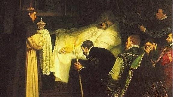 Mort de Carles I d'Espanya i V d'Alemanya