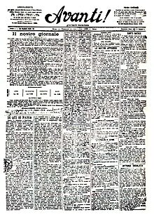 Mussolini appointed as the editor of Avanti!