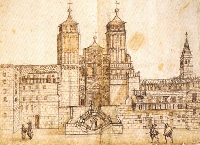 Construcción de la catedral de Santiago.