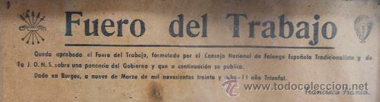 """APROVACIÓ DE LA LLEI """"FUERO DEL TRABAJO"""""""