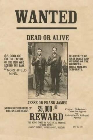 Muere Jesse James, pistolero estadounidense.