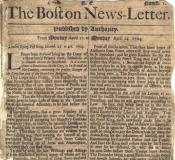 THE FIRST NEWSPAPER AD IS PUBLISHED