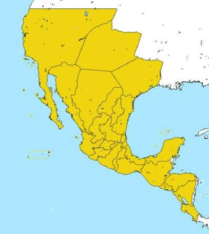 La República Federal de América Central se incorpora al Imperio Mexicano.