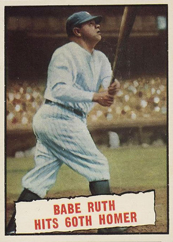 Babe Ruth hits a record 60 home runs within a single season