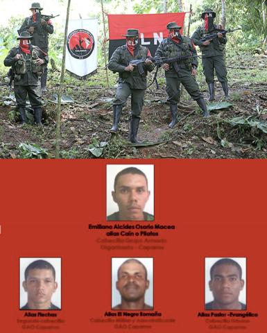 Alianza entre Los Caparrapos y El Ejército de Liberación Nacional
