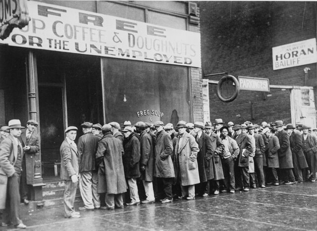 Beginning of Great Depression