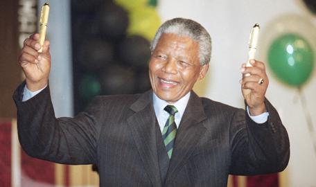 Nelson Mandela became president