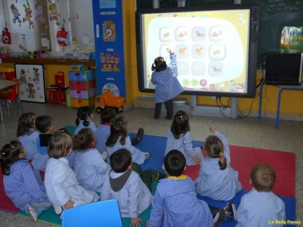 Pizarra interactiva en aulas.
