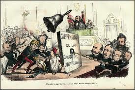 El general Serrano asume el ejecutivo y suspende las garantías Constitucionales