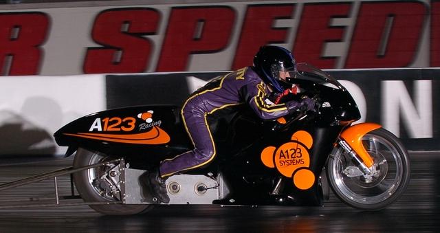 Récord de velocidad de  moto eléctrica