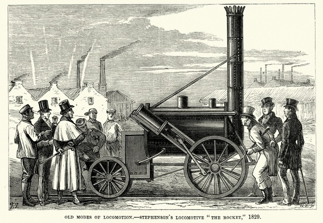 Primer ferrocarril entre Liverpool yManchester.