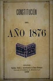 Aprobación de la Constitución Monárquica del 76