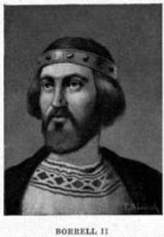 Borrell II deja de prestar fidelidad al rey franco