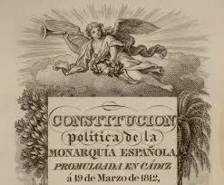 Constitución política de la monarquía Española.