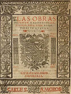 La obra poética de Garcilaso de la Vega