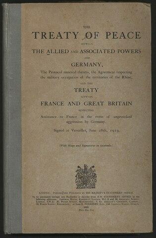 Η Συνθήκη των Βερσαλλιών