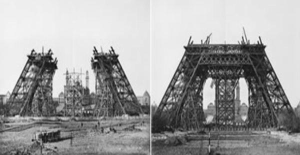 Se inicia la construcción de la torre Eiffel