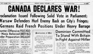 Canada declares war