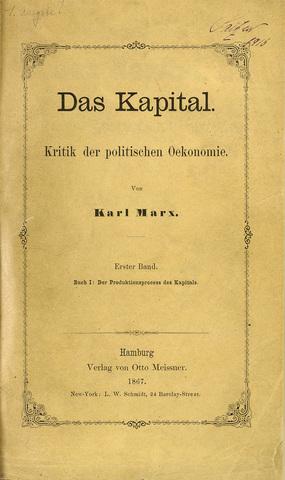 Publicación de El capital.