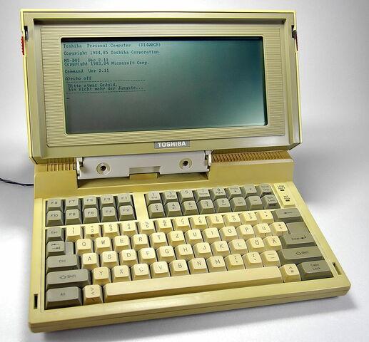 Primer ordenador portátil. Video informativo.