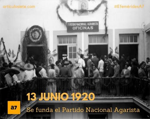Fundación del Partido Nacional Agrarista