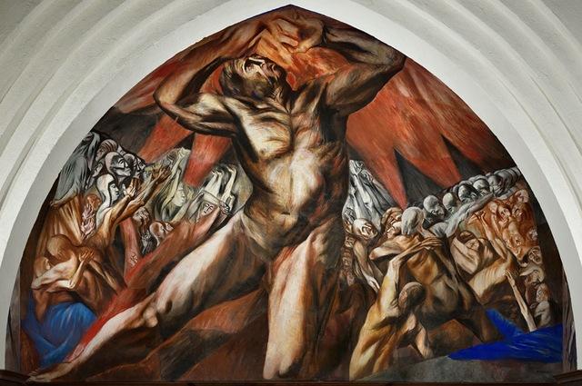 José Clemente Orozco pinta