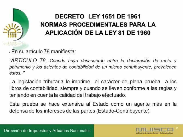 Decreto 1651.
