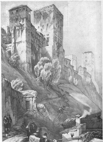 Inicio de la construcción de la Alhambra