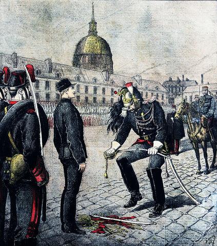Arresto en Francia del capitán Alfred Dreyfus