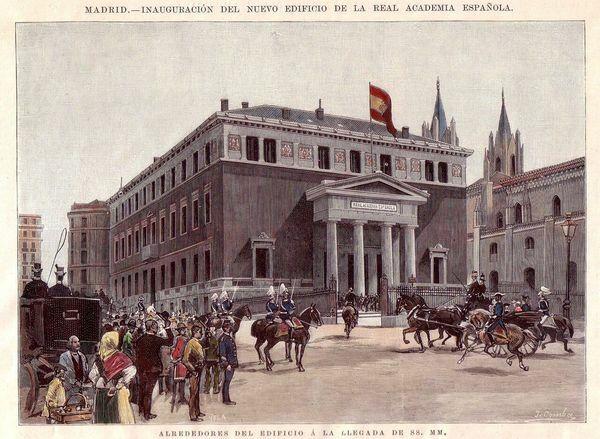 Se inaugura en Madrid el actual edificio de la Real Academia Española.