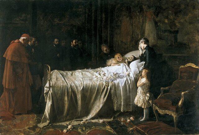 Muerte del rey  de España  Alfonso XII