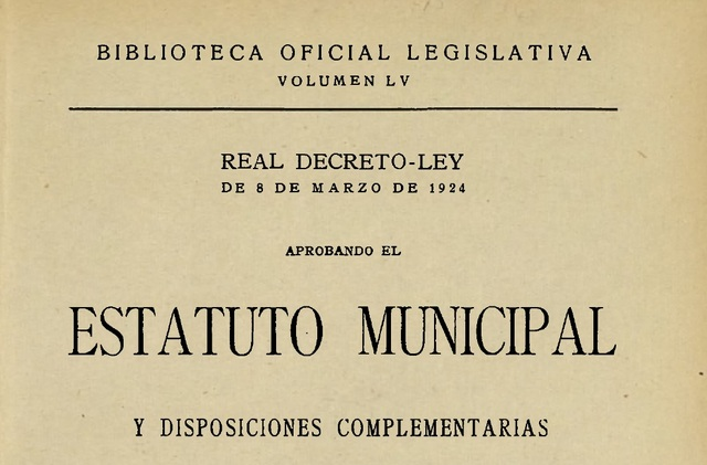 Estatuto Municipal de 1924