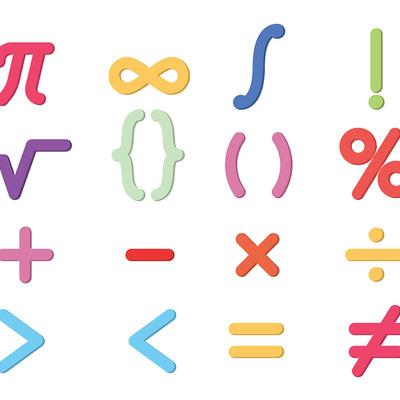 Математические знаки timeline