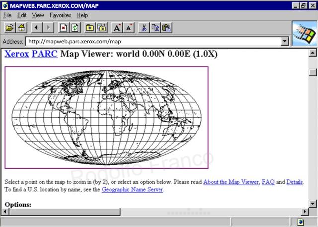 1ères Cartes Géographiques sur le Web (4)