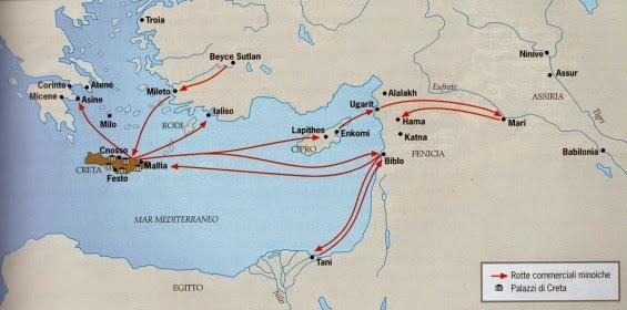 I Cretesi espandono i loro commerci nel Mediterraneo (talassocrazia)