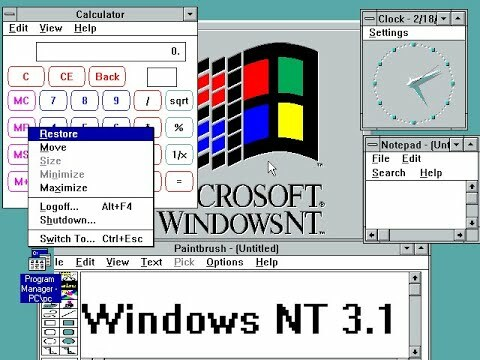 Windows NT 3.1 (Julio 1993)