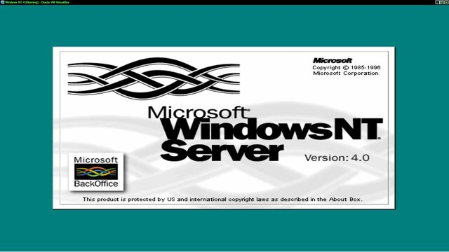 Windows NT Server 4.0 (Agosto 1996)