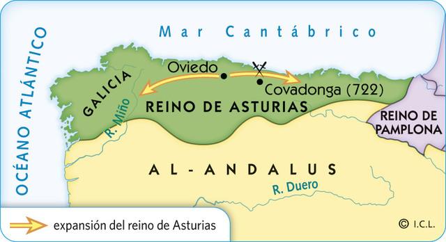 Galicia se incorpora al reino de Asturias.