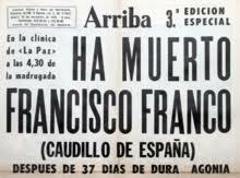 Fin del Franquismo, Muerte de Franco